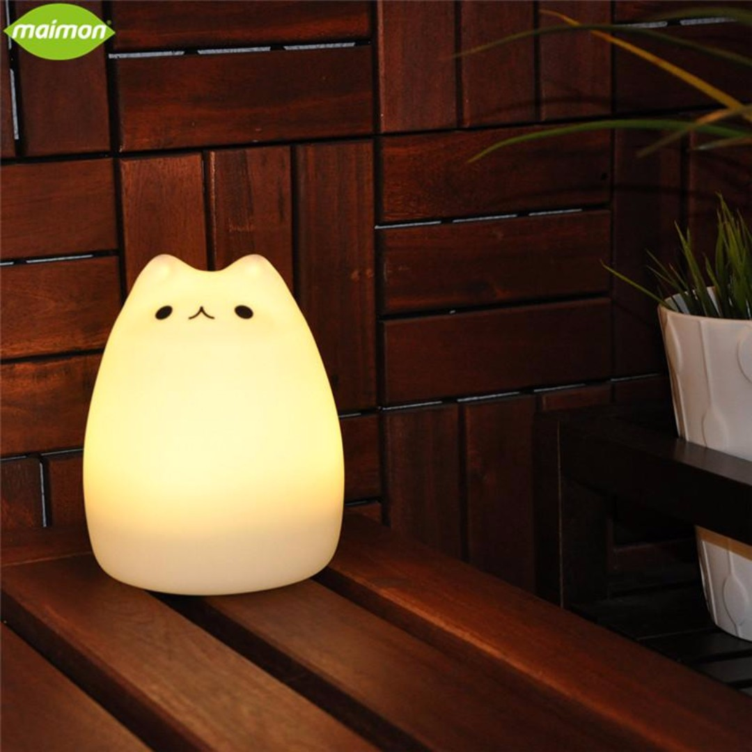 Cute Animal Face Silicone Night Light
