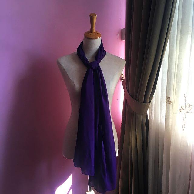 Dark Purple Plain Shawl