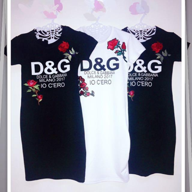 D&G Shirt Dress w/patch