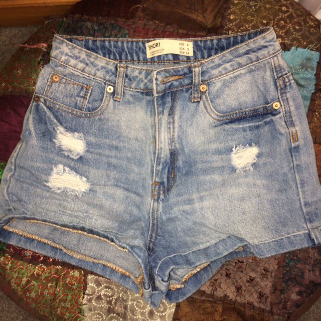 Distressed High waisted Demon Shorts