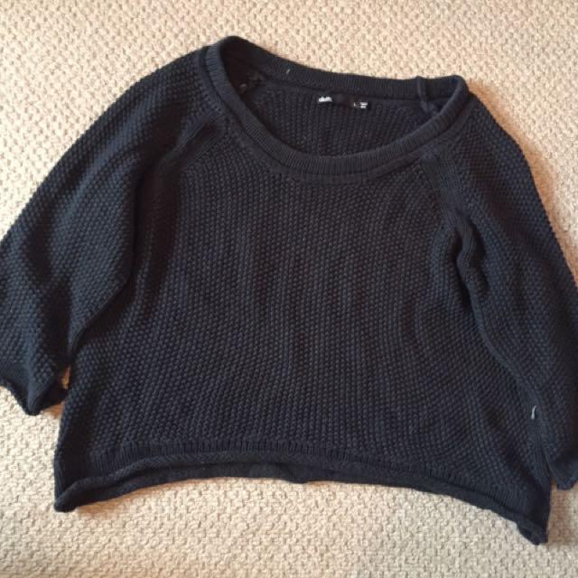 Dotti Black Crop Sweater