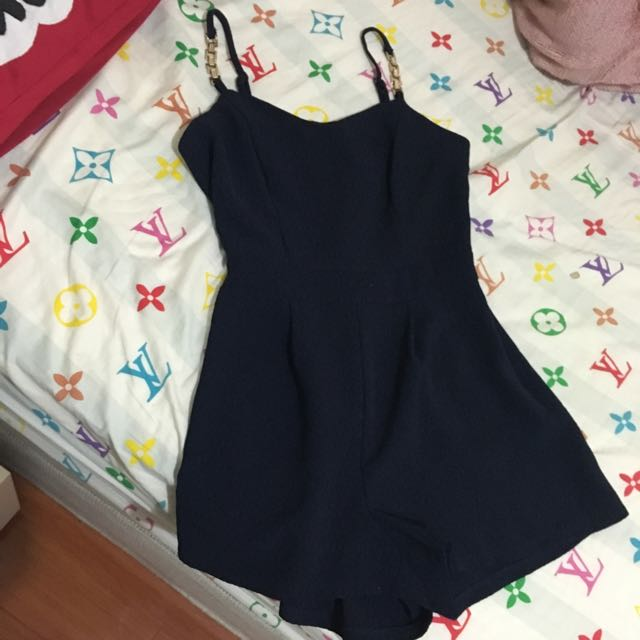 Dotti Navy Playsuit
