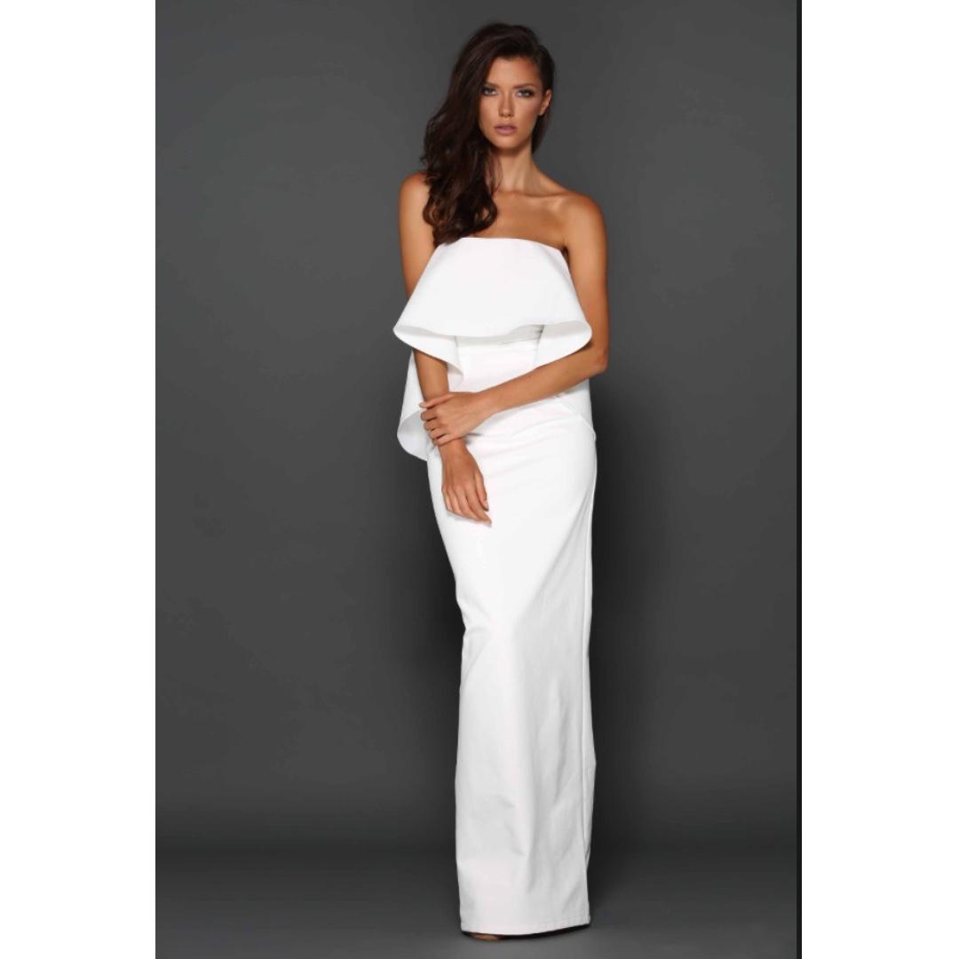 Elle Zeitoune Anna White Formal Dress (HIRING)
