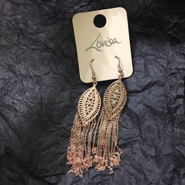 Feather Earring Rose Gold