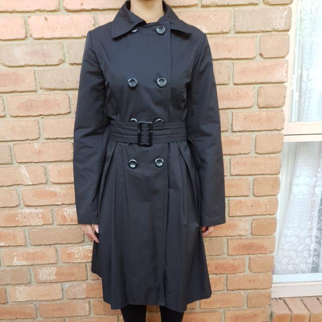 Fields Black Trench Coat
