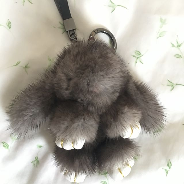 Fluffy Animal Key Ring
