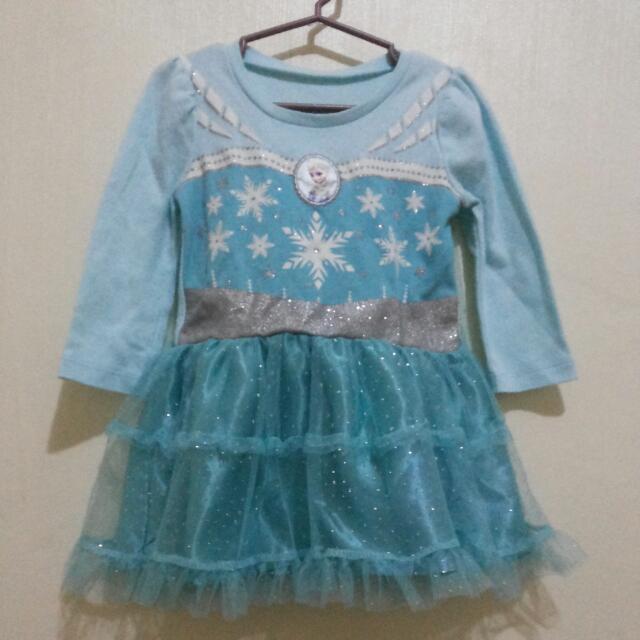 Frozen long sleeves dress