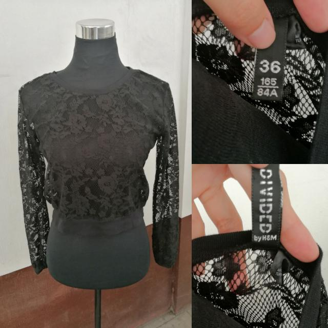H&M Crop Lace Top (FREE SHIPPING)