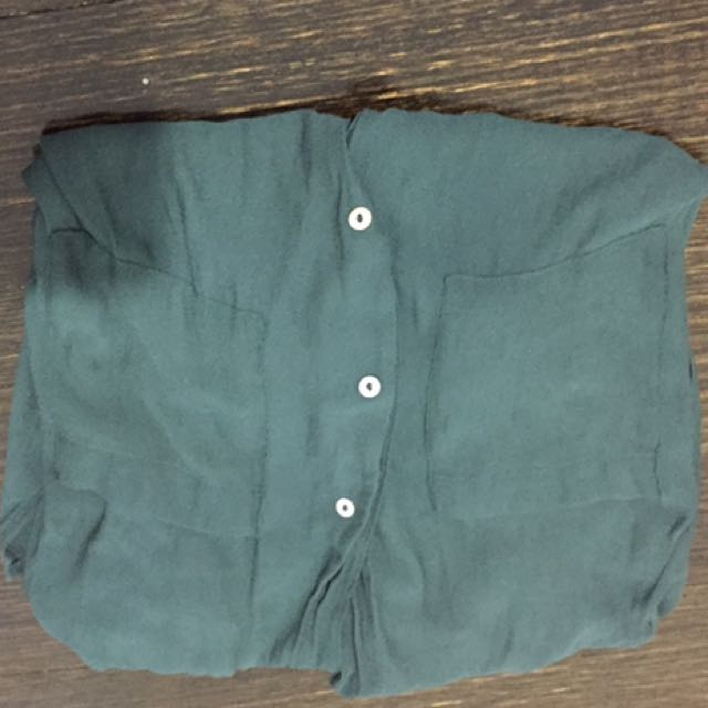 H&M Sheer Green Shirt