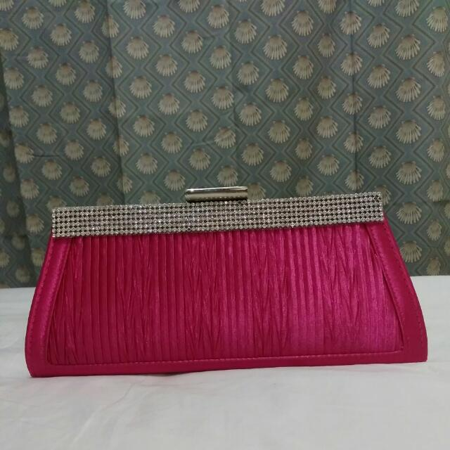 Hot Pink Clutch Bag