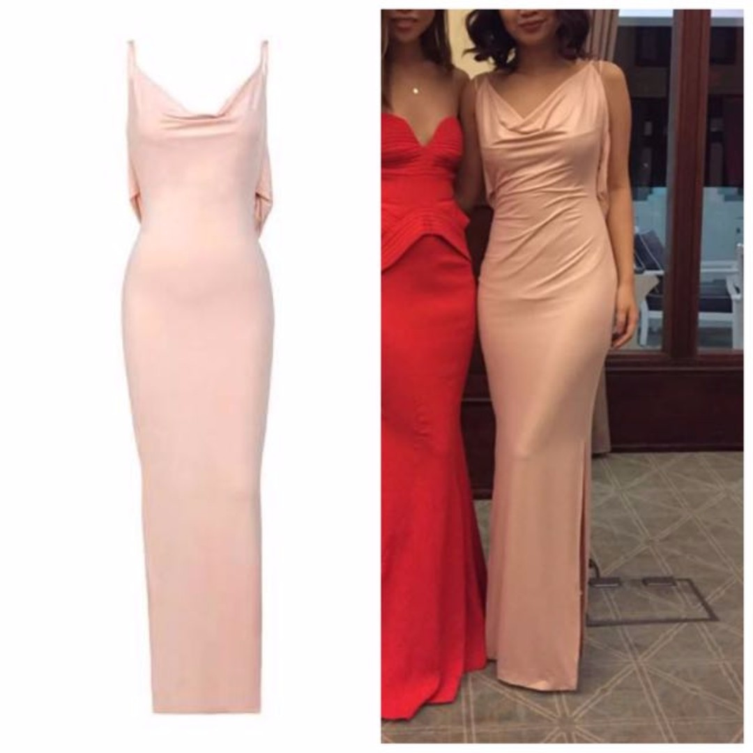 house of cb 39 leonetta 39 blush shimmer backless maxi dress women 39 s fashion clothes on carousell. Black Bedroom Furniture Sets. Home Design Ideas