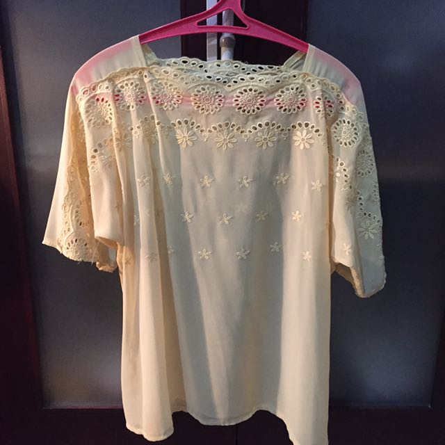 Icons Yellow Lace Top