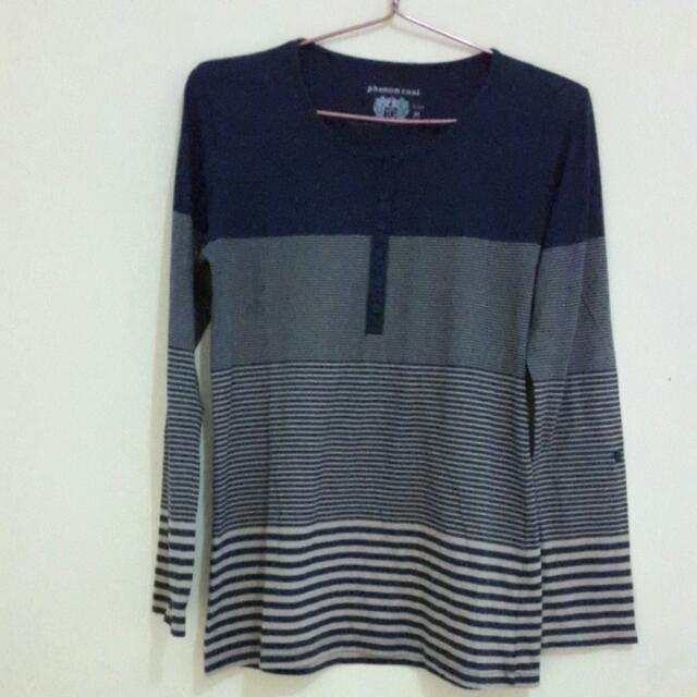 Kaos Stripe Navy