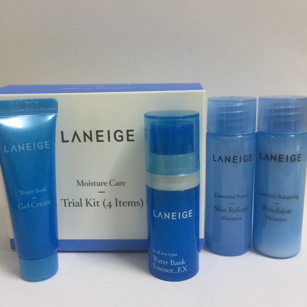 Laneige Moisture Care Trial Kit 4 Items Health Beauty Skin White Plus Renew Bath Body On Carousell