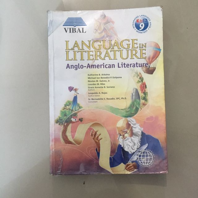 Free Language In Literature Anglo-American For Grade 9