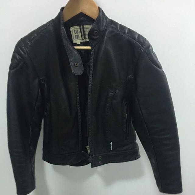 Genuine Leather Motorcycle Jacket Walden Miller