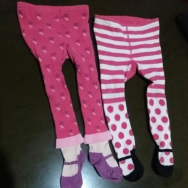 (Repriced) Leggings with Feet for Infant (2items)