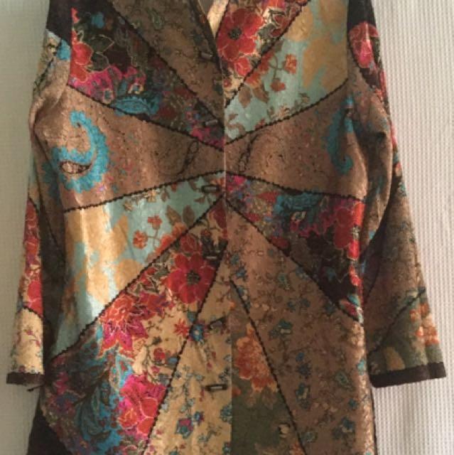 Light Coat Crushed Silk Fabric