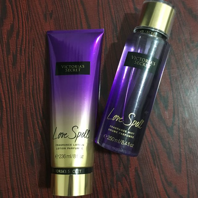 Victoria's Secret Love Spell Fragrance Mist& Body Lotion