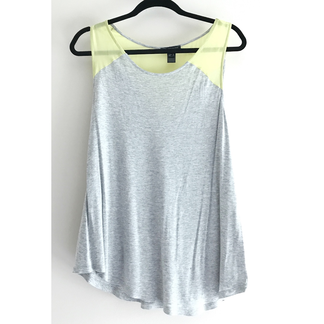 MANGO gray flowy tank top