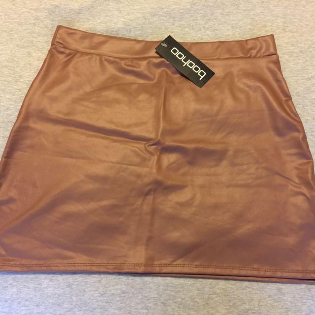 Matte Leather Skirt