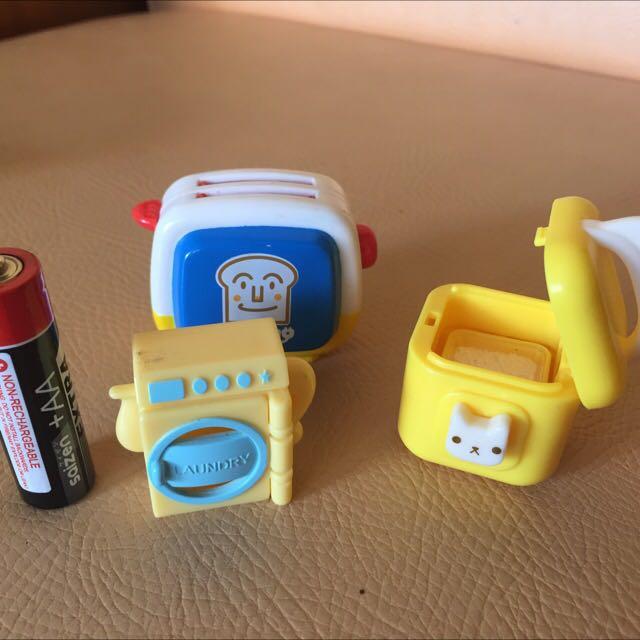 Mini bread toaster, washing machine & ricecooker