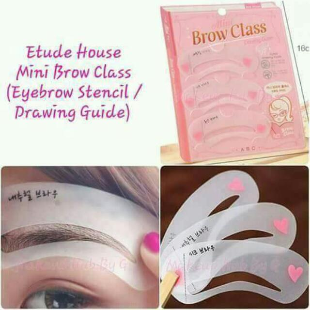 Mini Brow Class Drawing Guide Eyebrow Stencil Health Beauty