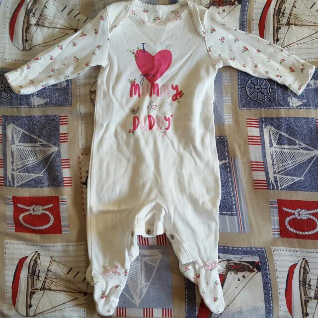 Mothercare statement bodysuit (Newborn Size)