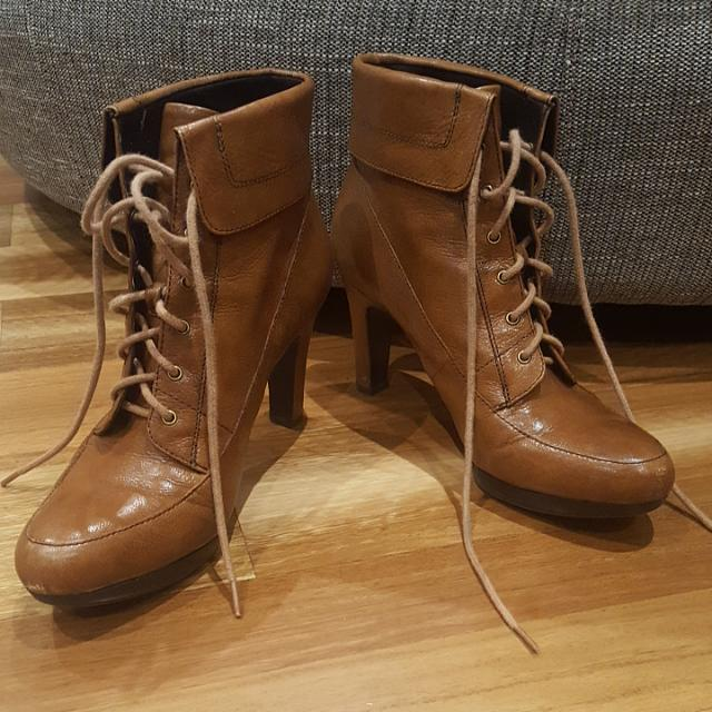 Lace Up Boots - Size 8