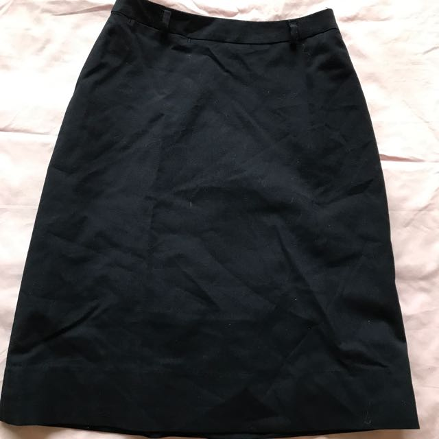 Navy Work Skirt - 4