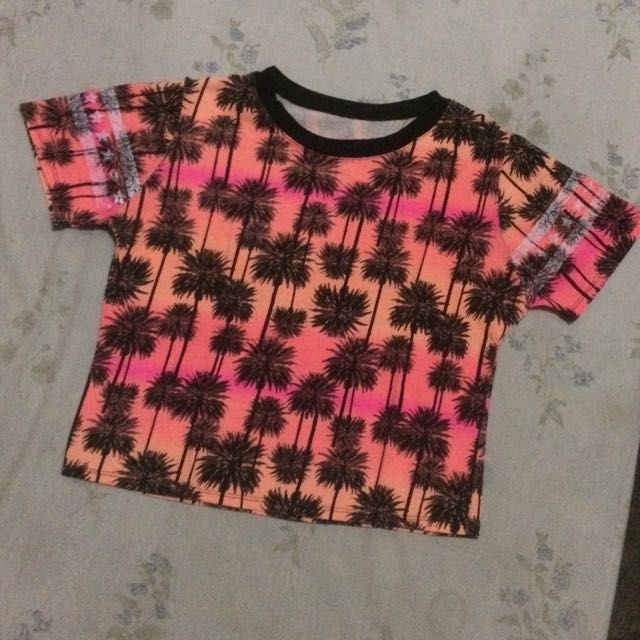 Neon Palm Trees Top