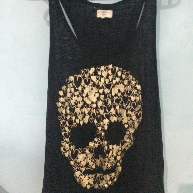 New Look Skull Gold Tank