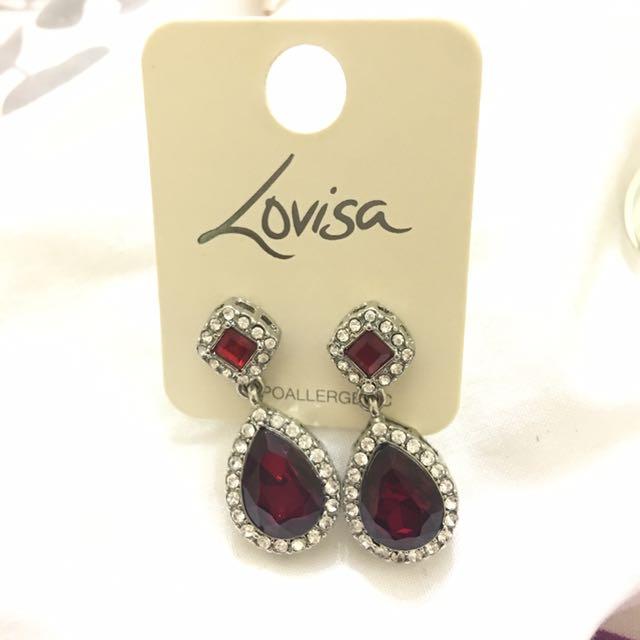 NEW Red drop Earrings