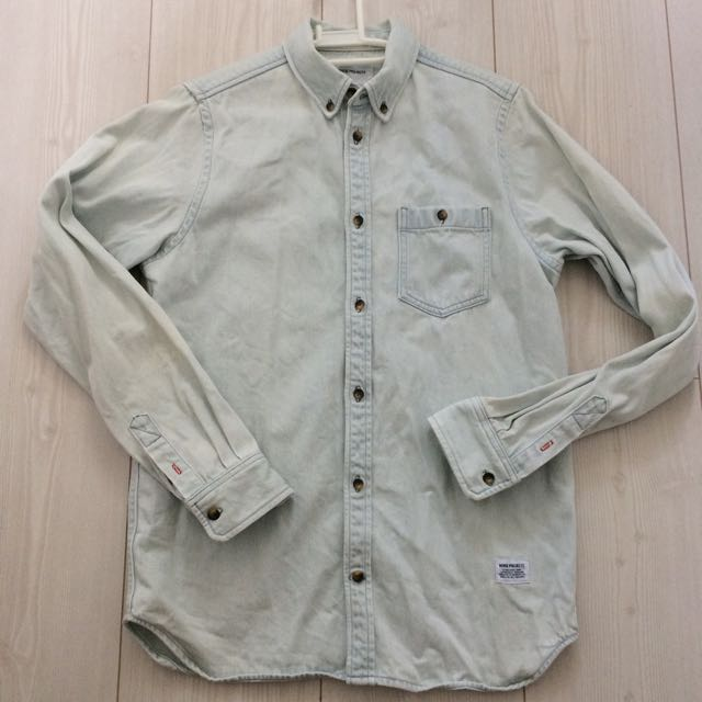 f356106b61 Norse Projects Anton Bleached Denim Shirt