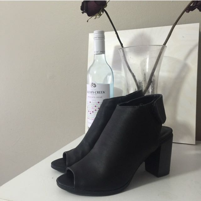 OPEN TOED ANKLE BOOT