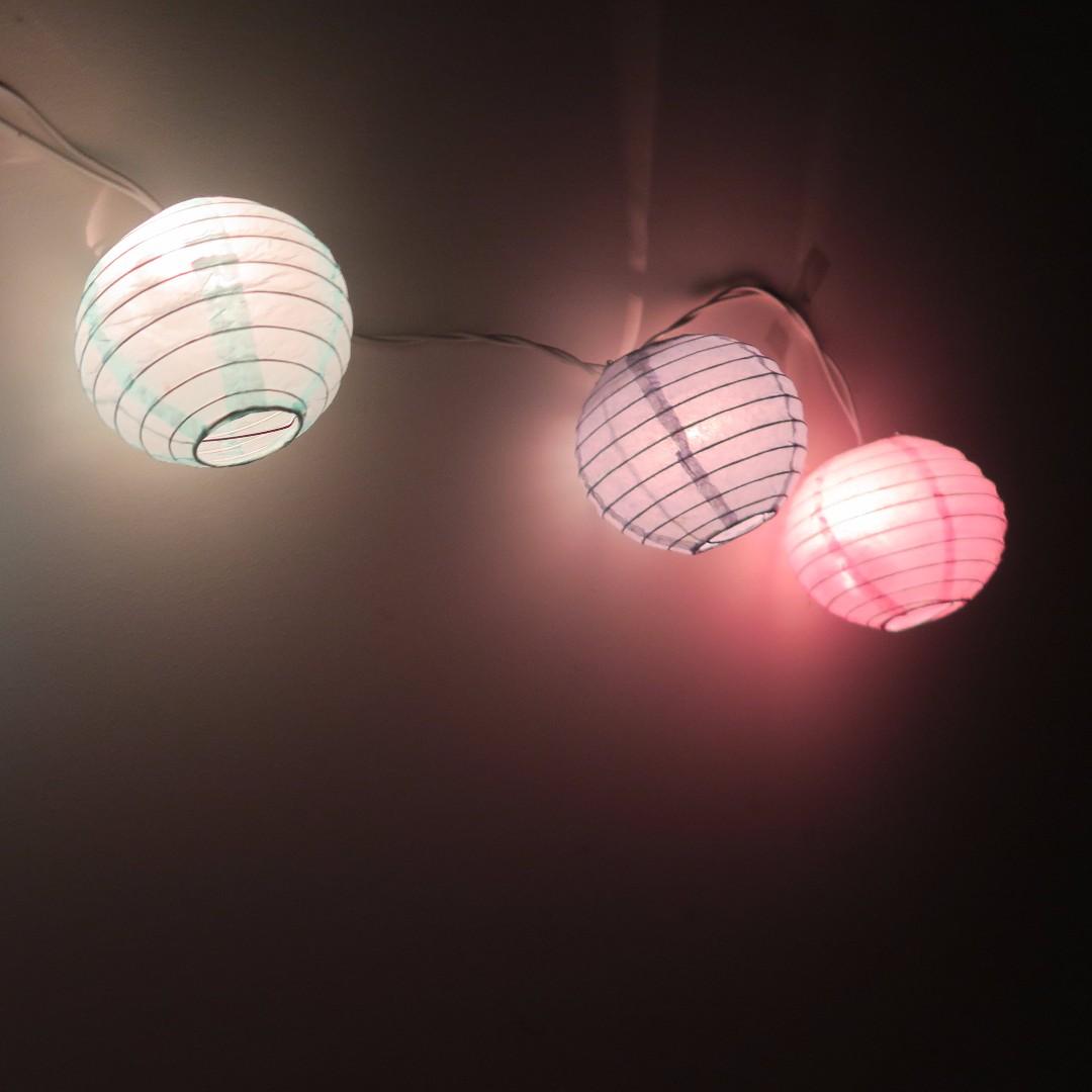 Pastel paper lantern spheres