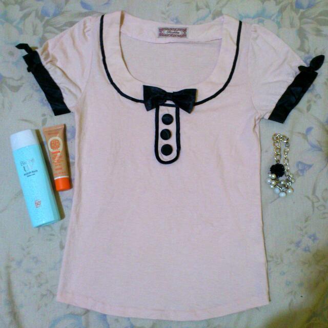 Less 20 pesos - Peach cute blouse