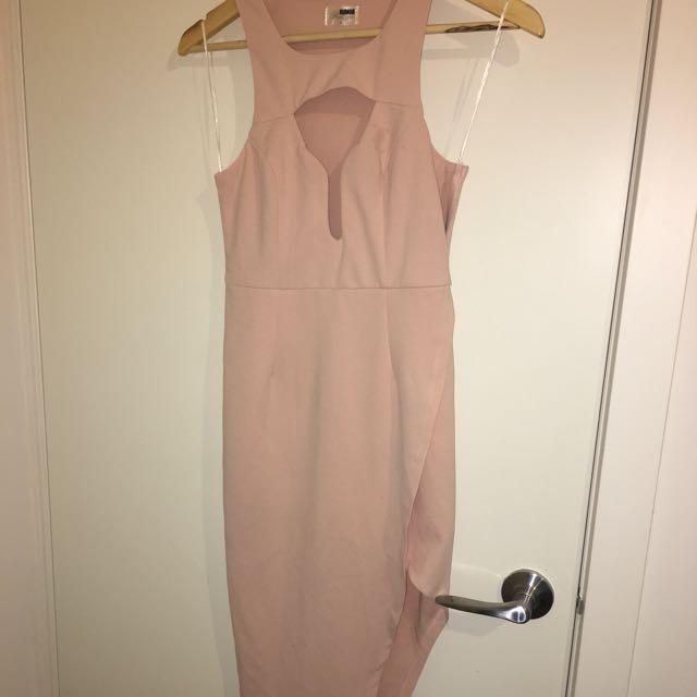 Peach Dress Long