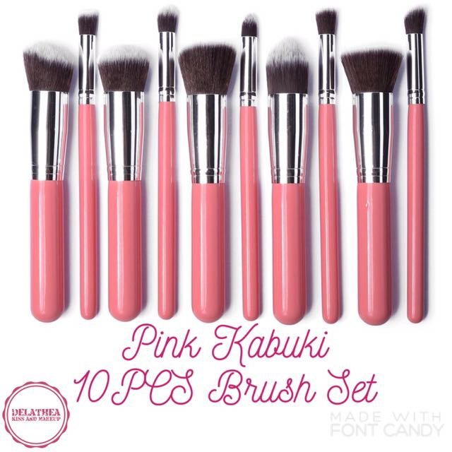 Pink Kabuki 10PCS Brush Set