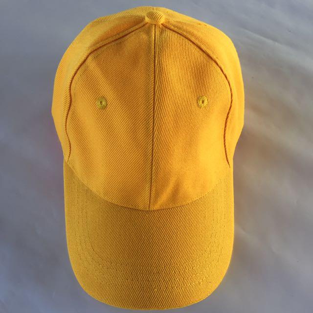 58263904fec83 PLAIN YELLOW BASEBALL CAP