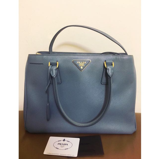 58ef76c3ab0e ... cheap prada galleria saffiano leather bag cornflower blue luxury bags  wallets on carousell 02944 6a1f0