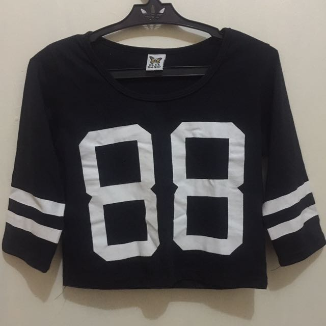 Preloved Cropped Top Jersey