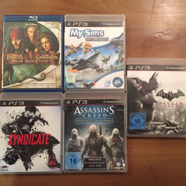 PS3 Video Games + Blu Ray Movie