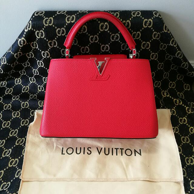 Red Capucines LV Handbag