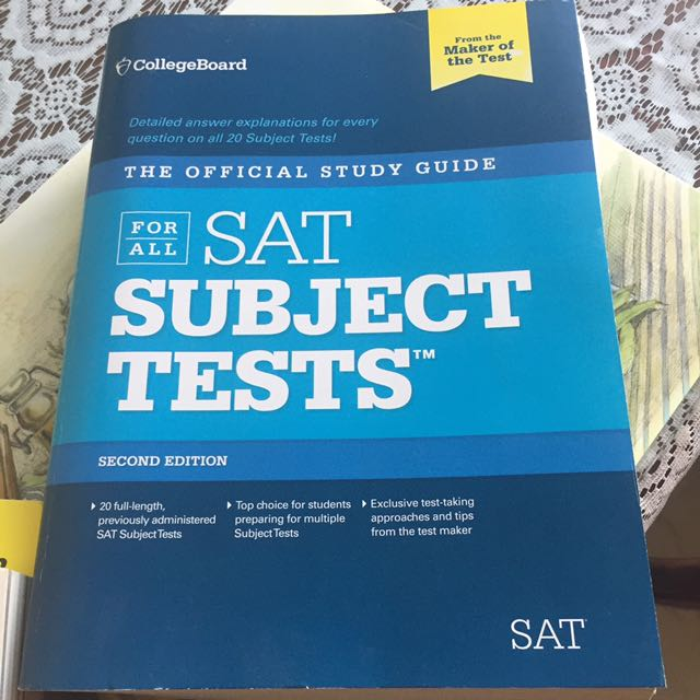 Sat Subject Test Official Guide