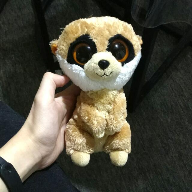 Set Ty ori 100% Razberry (pink monkey) and Rebel (brown meerkat) & YooHoo and Friends (yellow-pink raccoon)