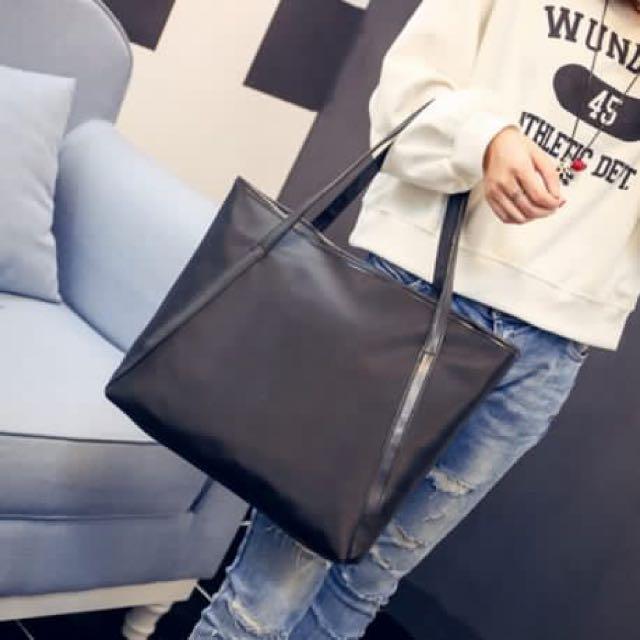 Simple Plain Shoulder Bag