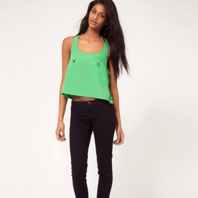 Size 10 ASOS Green Cropped Top
