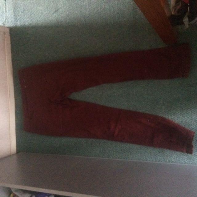 Skinny Maroon Jeans