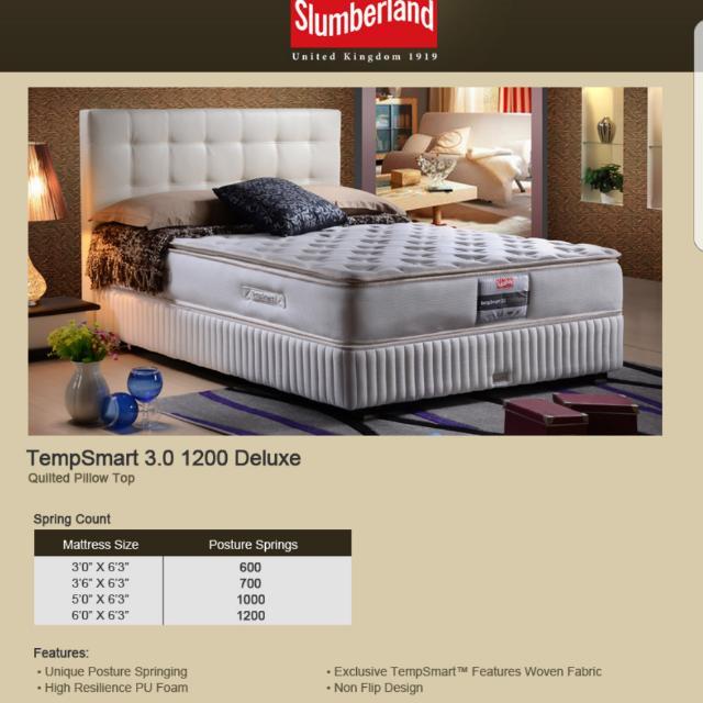 new arrival 6d3dd 805e1 PRICE SLASHED 50%! Slumberland Tempsmart 3.0 (1200 Deluxe ...